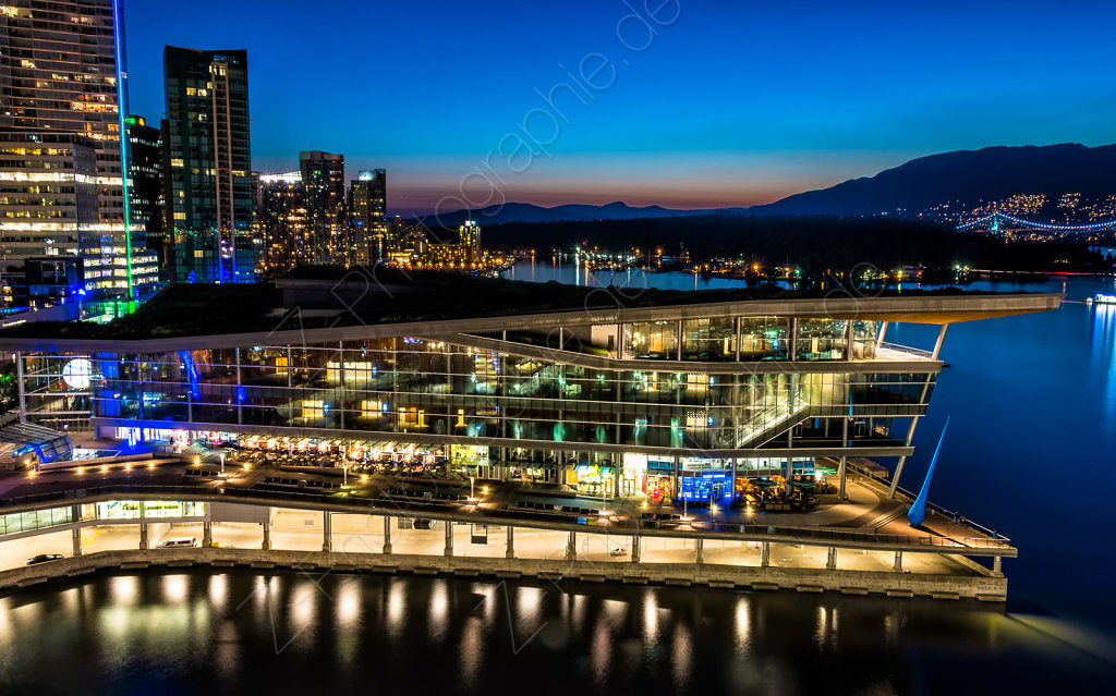Vancouver Harbour with Convention Center, Vancouver, Canada