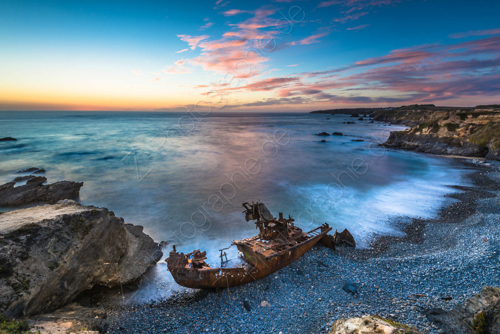 Ship wreck at Vila Nova de Milfontes, Portugal